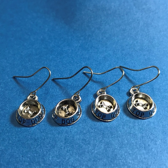 0c4ba7c25 Handmade Jewelry | 2 Pairs Dog Bowl Earrings For 1clairb | Poshmark